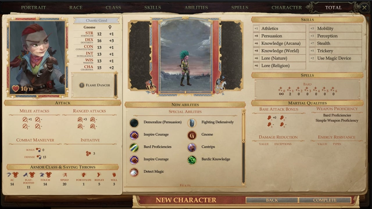 pathfinder kingmaker 2 - Character