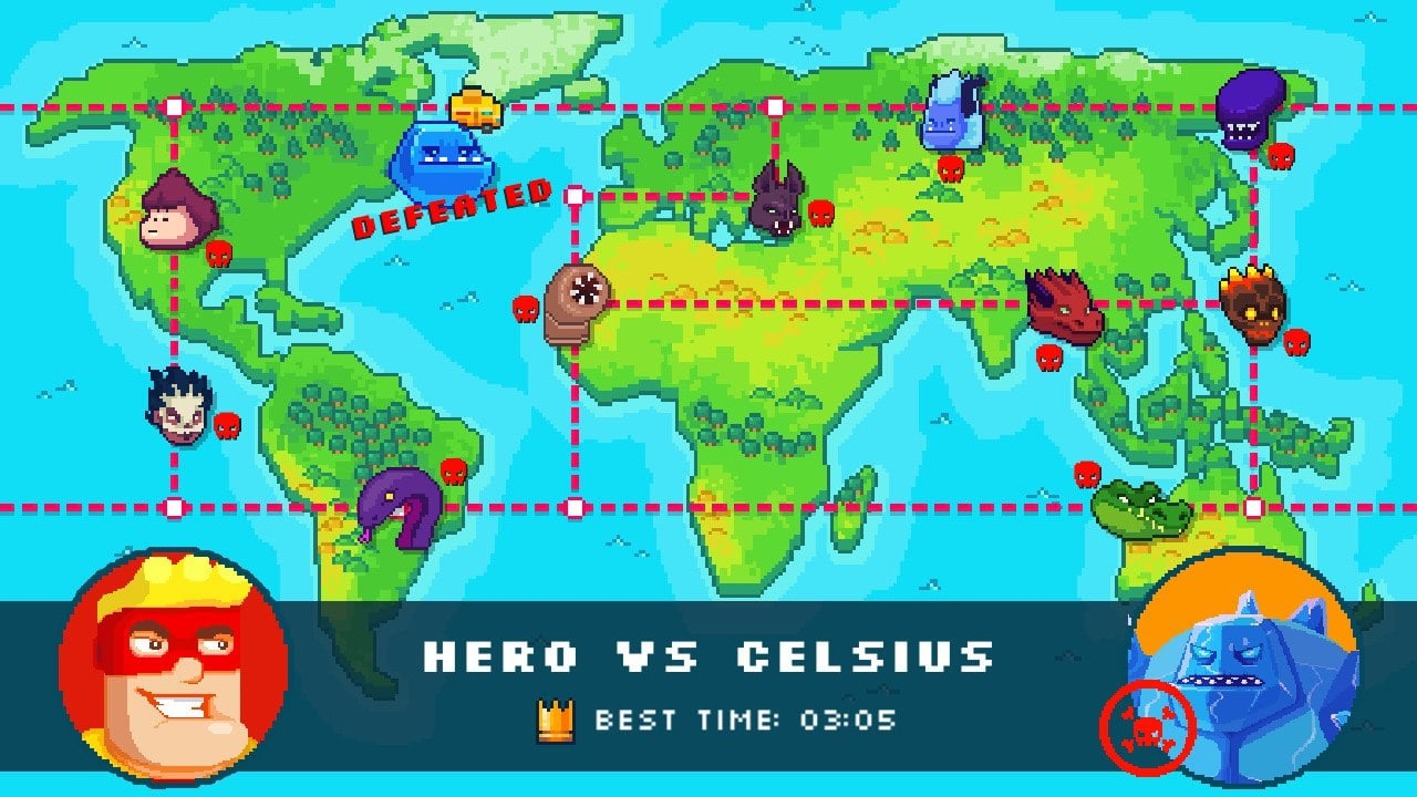 hero express map