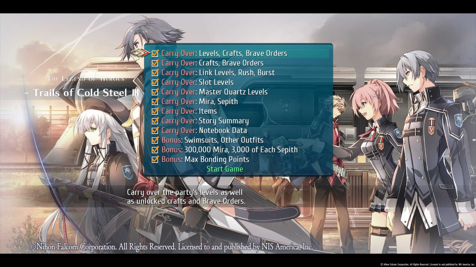 Trails of Cold Steel III 7