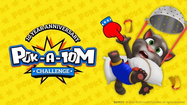 Celebrate Talking Tom's 10th birthday via the global 'Pok-A-Tom'!